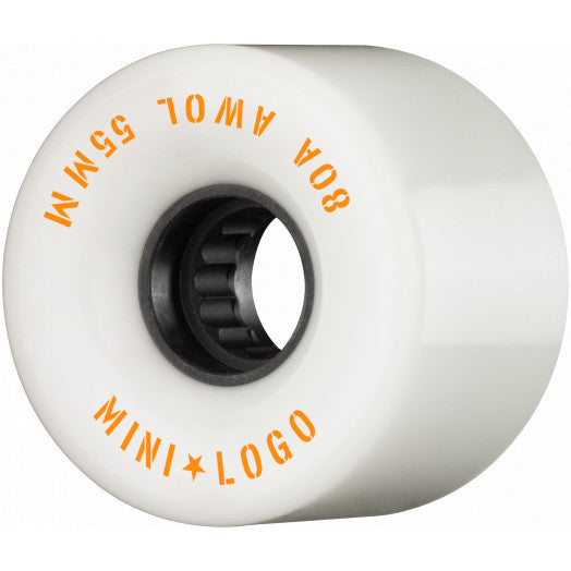 Mini Logo AWOL Skate Wheels 80a in White 55mm
