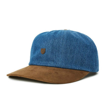 Brixton B Shield III Cap in Denim