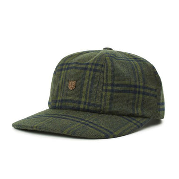 Brixton B Shield III Cap in Emerald and Washed Navy