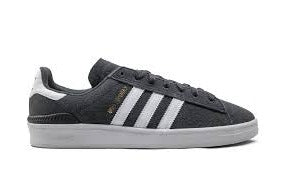 Adidas Campus ADV Skate Shoe in Grey and White