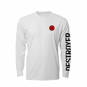 Destroyer Battleship Longsleeve in White