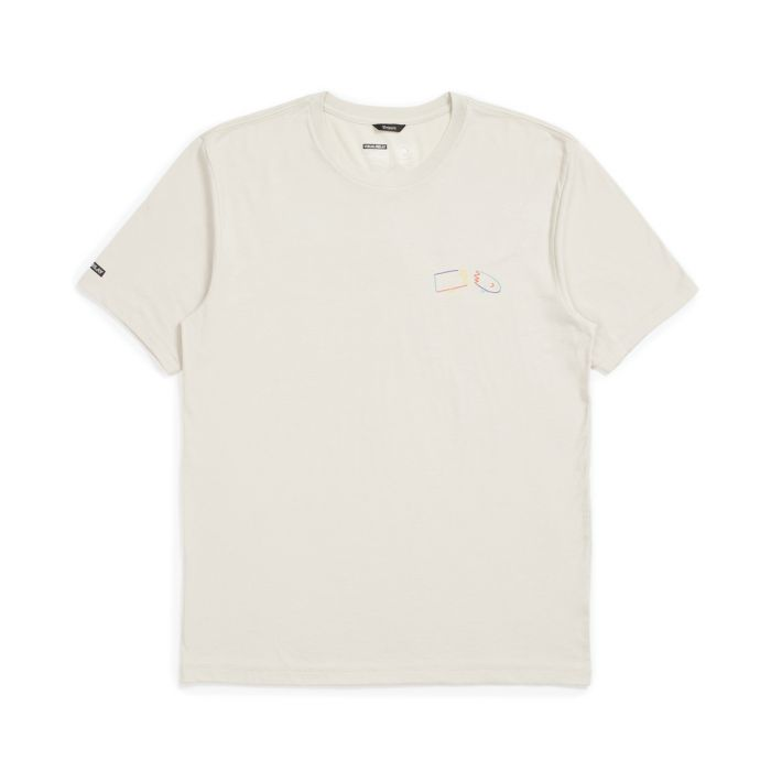 Brixton Beaufort Short Sleeve Tee in Stone