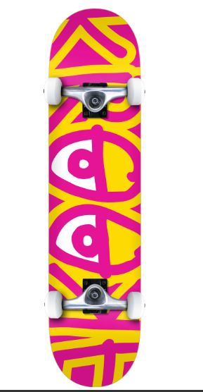 Krooked Big Eyes Two Kids Complete skateboard in 8.0''