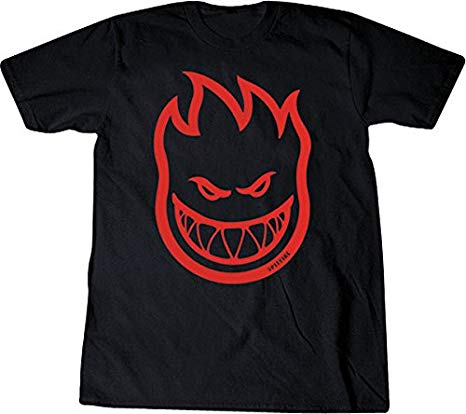 Spitfire Bighead T Shirt in Black and Red