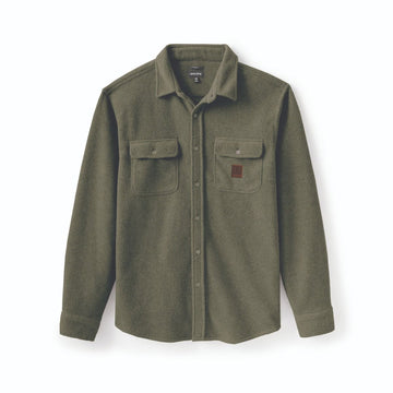 Brixton Bowery L/S Fleece in Military Olive