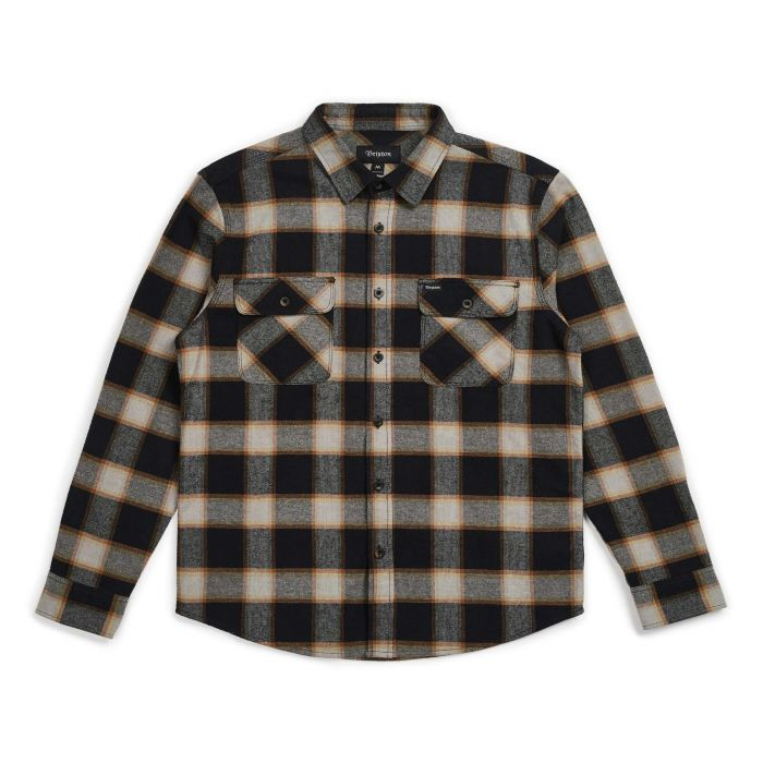 Brixton Bowery L/S Flannel in Black and Cream
