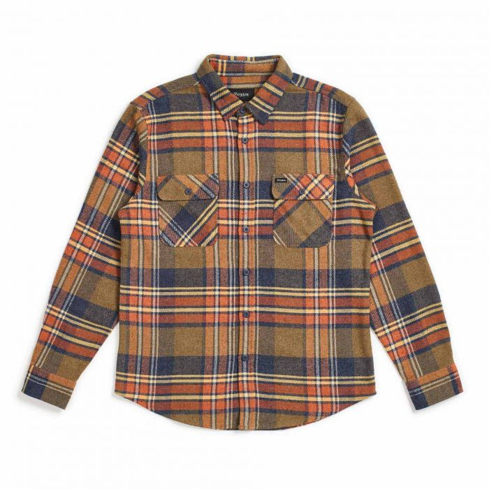 Brixton Bowery L/S Flannel in Sage