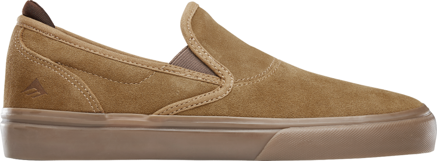 Emerica Wino G6 Slip-On in Brown Brown and Gum