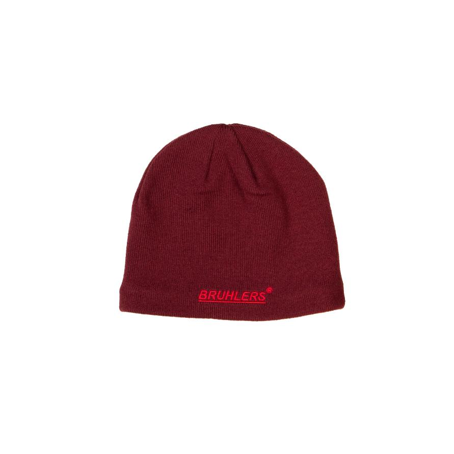 Bruhlers Tec Beanie in Shame Red