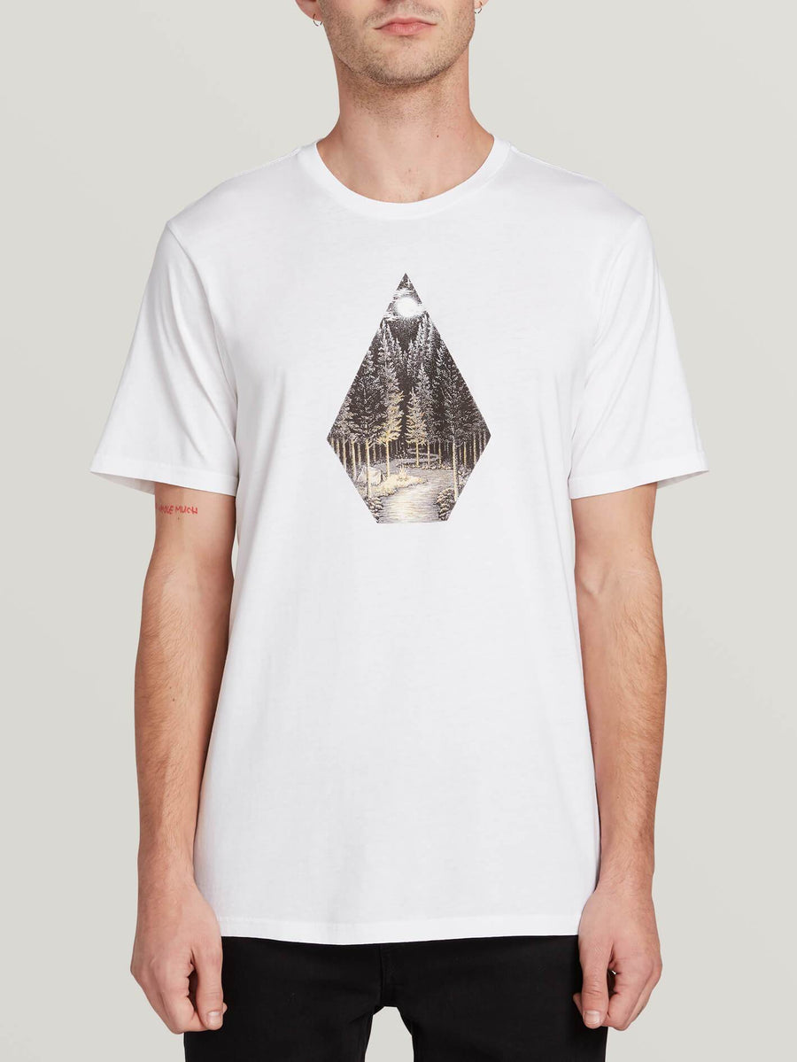 Volcom Camp Scene T shirt in White