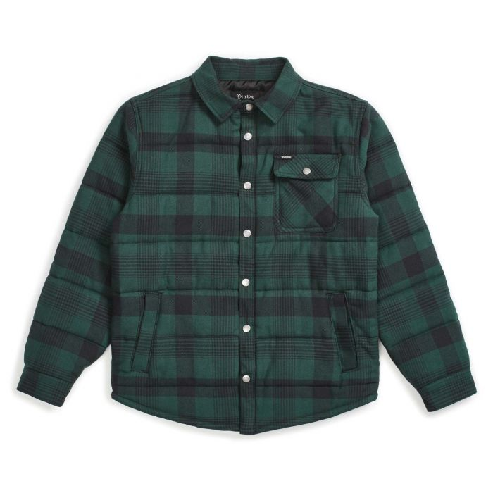 Brixton Cass Jacket in Black and Green