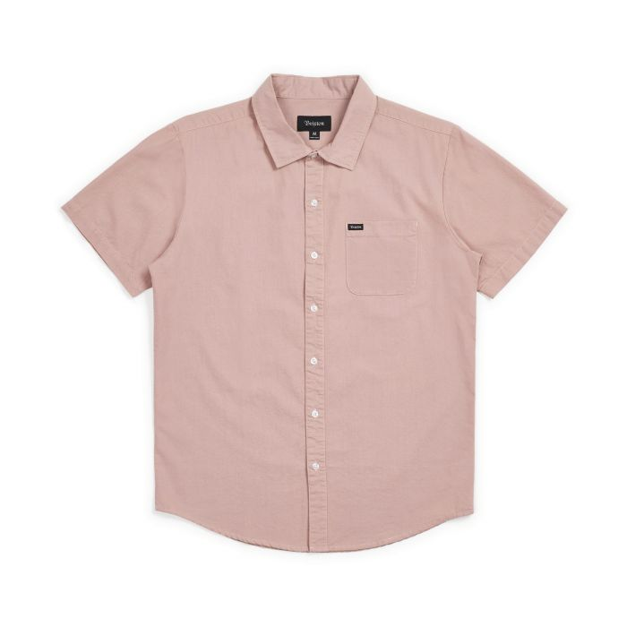 Brixton Charter Oxford Short Sleeve Woven Shirt in Cameo