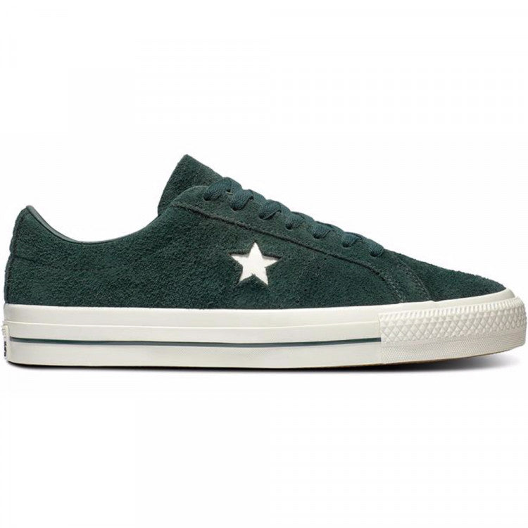 Converse One Star Pro OX in Deep Emerald and Egret