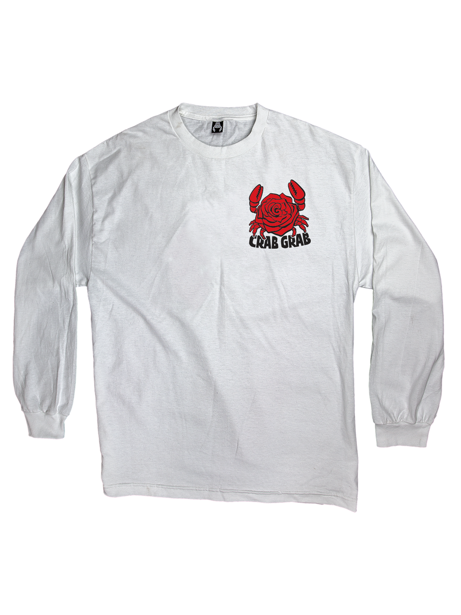 2020 Crab Grab Crab Rose Longsleeve Shirt in White