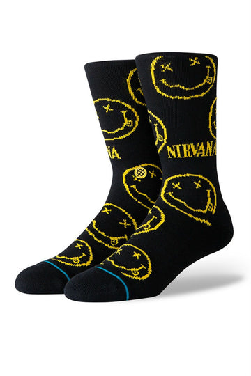Stance Nirvana Face Sock in Black