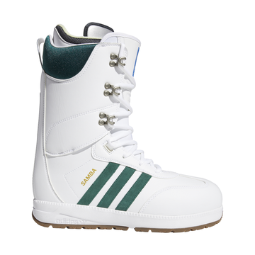 2020 Adidas Samba Snowboard Boot in Cloud White Collegiate Green and Gum