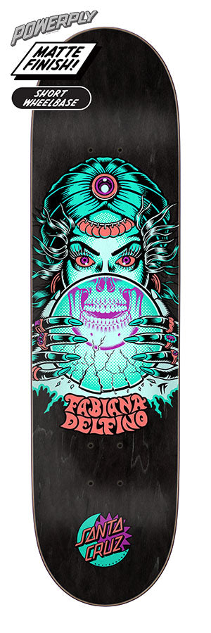 Santa Cruz Delfino Fortune Teller Powerply Skate Deck in 8.25