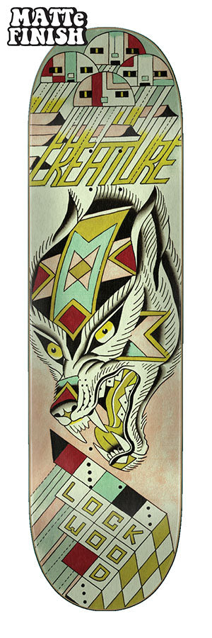 Creature Lockwood Cerberus Skatedeck in 8.25