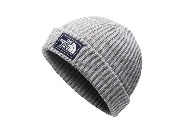 The North Face Salty Dog Beanie in Mid Grey and Tin Grey
