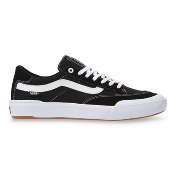 Vans Berle Pro Skate Shoe in Black and True White