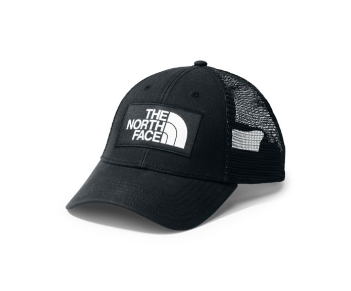 North Face Mudder Trucker Hat in TNF black and white