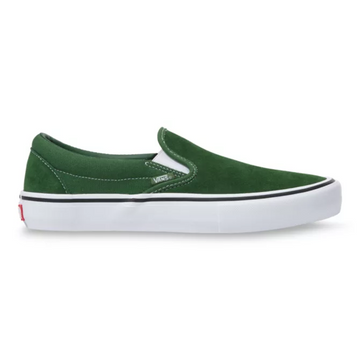 Vans Slip On Pro Skate Shoe in Alpine Green and White