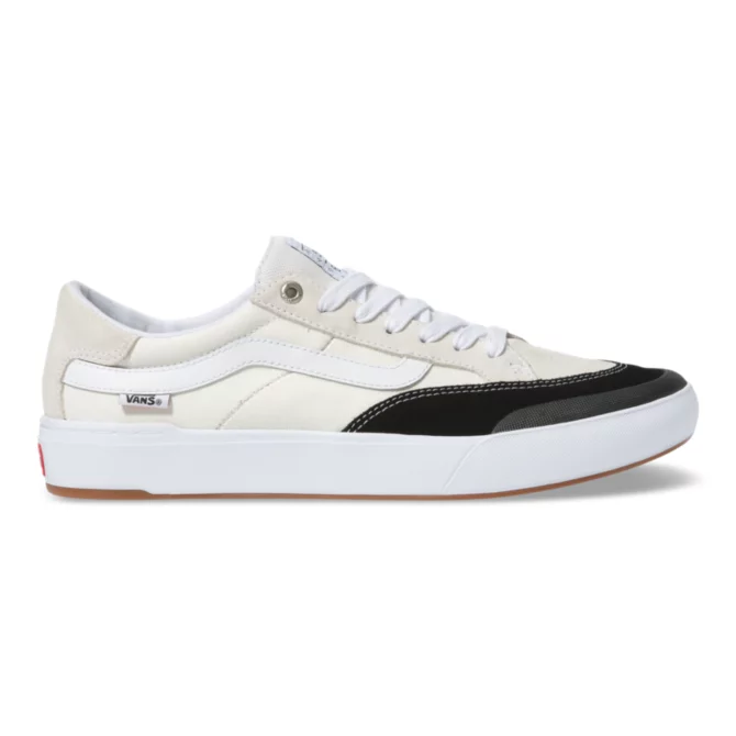 Vans Berle Pro Skate Shoe in Marshmallow and Black