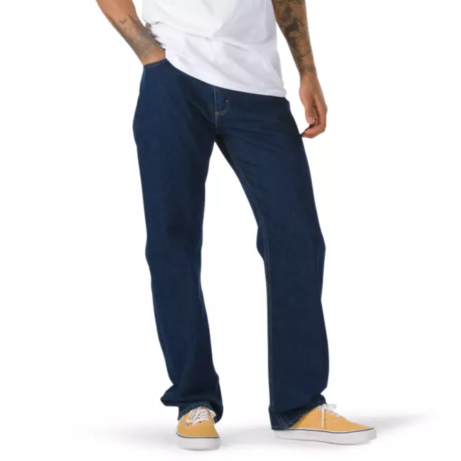 Vans V96 AVE Relaxed Carpenter Denim Pants in Midnight Rinse