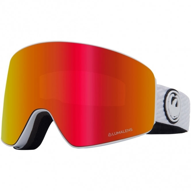 2020 Dragon PXV Snow Goggles in PK White with LL Red Ion and Pink Ion Lens
