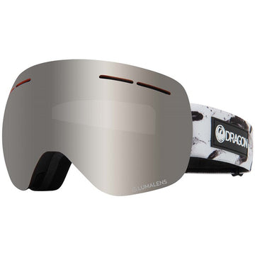 2020 Dragon X1S Snow Goggles in Feather with LL Silver Ion and Flash Blue