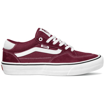 Vans Rowan Pro Skate Shoe in Port and White