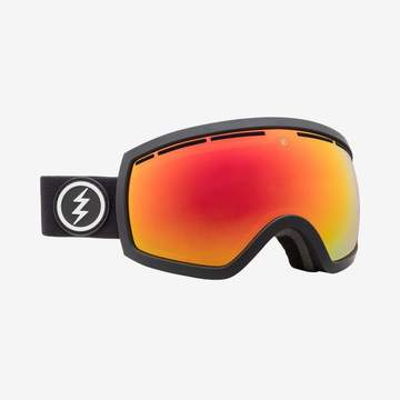 2020 Electric EG2.5 Snow Goggle with a Matte Black Frame and Brose Red Chrome Lens