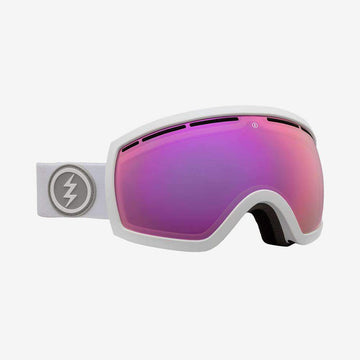 2020 Electric EG2.5 Snow Goggle with a Matte White Frame and Brose Pink Chrome Lens