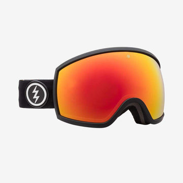 2020 Electric EGG Snow Goggle with a Matte Black Frame and Brose Red Chrome Lens