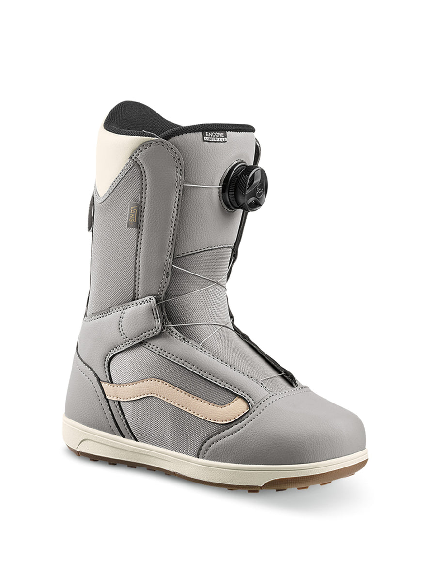 2020 Vans Encore Linerless Womens Snowboard Boots in Grey and Marshmallow