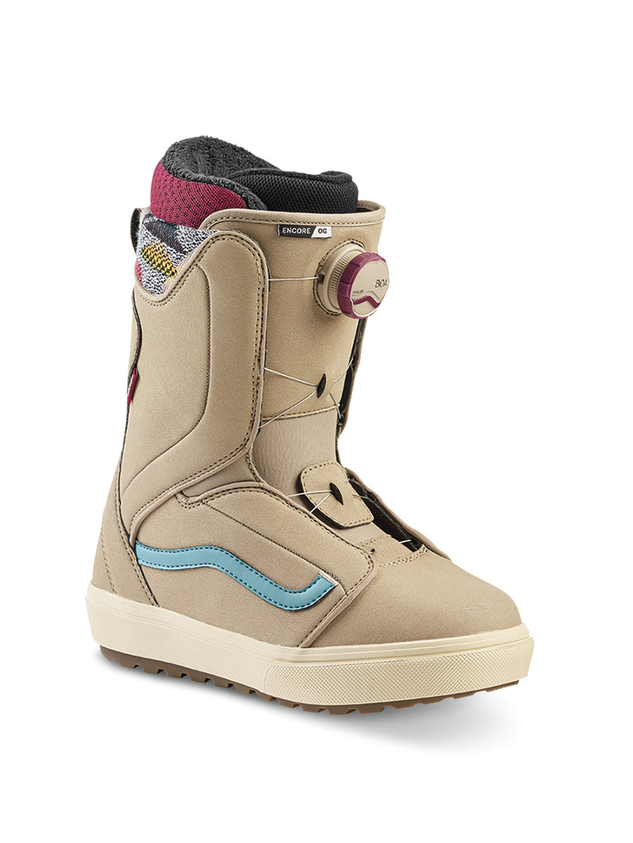 2020 Vans Encore OG Womens Snowboard Boots in Tan and Cameo Blue