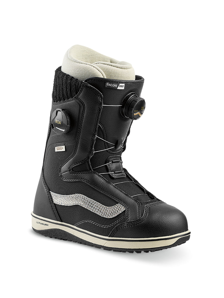 2020 Vans Encore Pro Womens Snowboard Boots in Black and Turtledove