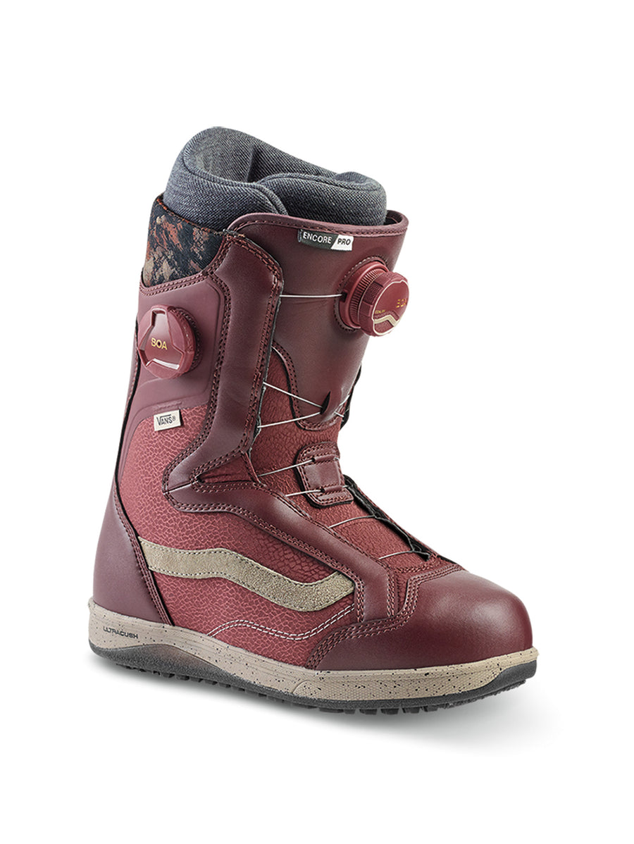 2020 Vans Encore Pro Womens Snowboard Boots in Andorra Red and Cashmere