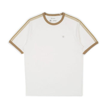 Brixton Este II S/S Knit in Off White/Coconut