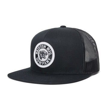 Brixton Forte MP Mesh Cap in Black and Aluminum