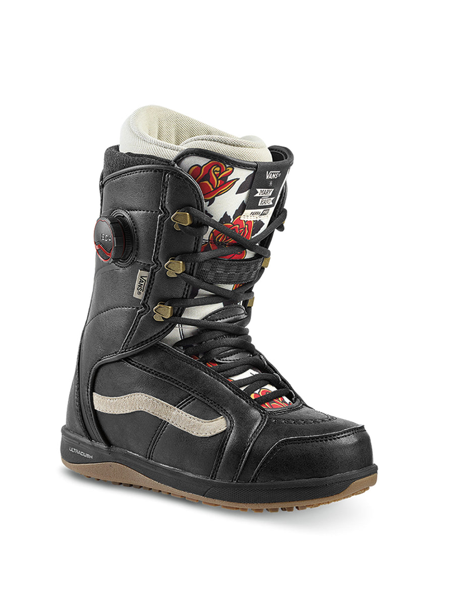 2020 Vans Ferra Pro Womens Snowboard Boots in Black and Marshmallow (Mary Rand)