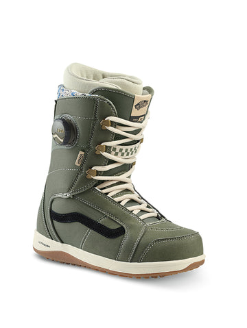 2020 Vans Ferra Pro Womens Snowboard Boots in Lichen Green and Macadamia