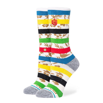 Stance Petal Power Crew Sock in White