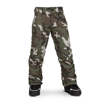 2020 Volcom Freakin Snow Chino Snowboard Boys Pants in GI Camo