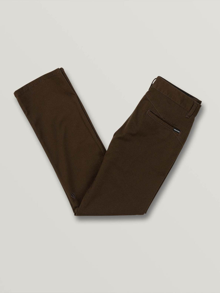 Volcom Frickin Modern Chino Stretch in Dark Chocolate