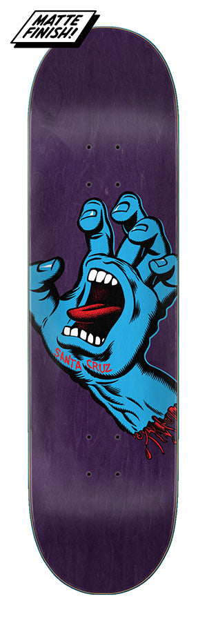 Santa Cruz Screaming Hand Skate Deck in 8.375