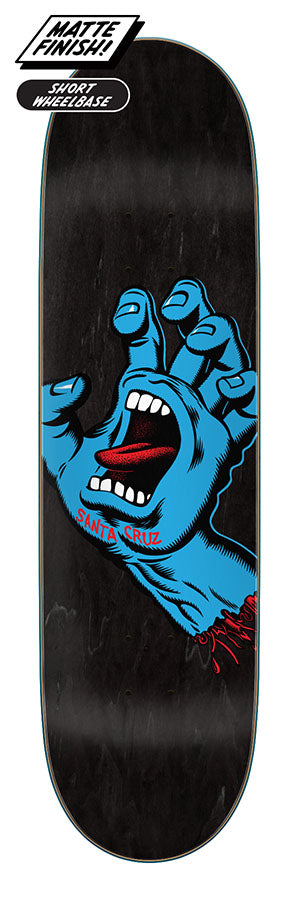 Santa Cruz Screaming Hand Skate Deck in 8.6