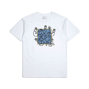 Brixton Huddle S/S Standard Tee in White