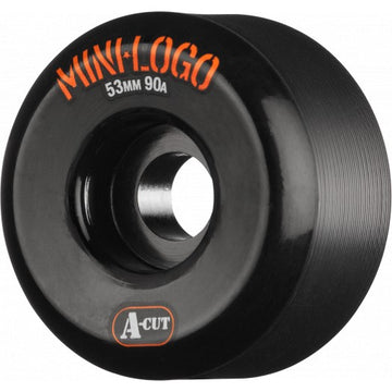 Bones Mini Logo Hybrid 90a Skate Wheels in 53mm in Black