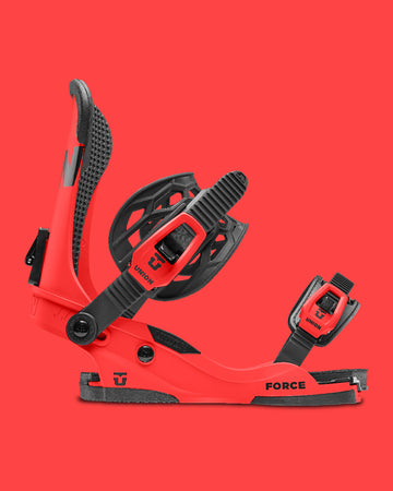 2021 Union Custom House Force Snowboard Binding in Red